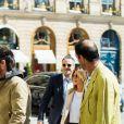 Jennifer Aniston et Justin Theroux se sont rendus au magasin Chanel avant de déjeuner au Ritz à Paris, le 12 avril 2017.