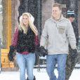 Heidi Montag et son mari Spencer Pratt se promènent à Aspen, le 28 décembre 2014.