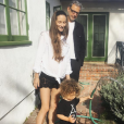 Jeff Goldblum, son épouse Emilie Livingston et leur fils Charlie en avril 2017.
