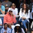 Carmelo Anthony, Lala Anthony et Kelly Rowland assistent à l'US Open 2016 au USTA Billie Jean King National Tennis Center à Flushing Meadows. New York, le 3 septembre 2016.