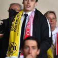 Louis Ducruet lors de la victoire de l'AS Monaco contre le Borussia Dortmund (3-1) au stade Louis-II de Monaco le 19 avril 2017, synonyme de qualification pour les demi-finales de la Ligue des Champions. © Bruno Bebert/Bestimage