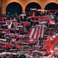 Ambiance de folie lors de la victoire de l'AS Monaco contre le Borussia Dortmund (3-1) au stade Louis-II de Monaco le 19 avril 2017, synonyme de qualification pour les demi-finales de la Ligue des Champions. © Bruno Bebert/Bestimage