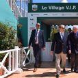 Le prince Albert II de Monaco se rend au tournoi de tennis Monte Carlo Rolex Masters 1000 à Monaco le 20 avril 2017. © Bruno Bebert/Bestimage