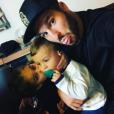 André-Pierre Gignac avec deux de ses enfants en janvier 2017, photo Instagram.
