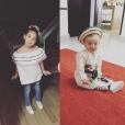 André-Pierre Gignac a posté cette photo Instagram de ses enfants en septembre 2016.