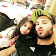 André-Pierre Gignac avec sa fille Grâce en septembre 2015, photo Instagram.