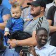 Famille d'André-Pierre Gignac au match d'ouverture de l'Euro 2016, France-Roumanie au Stade de France, le 10 juin 2016. © Cyril Moreau/Bestimage10/06/2016 - Saint-Denis