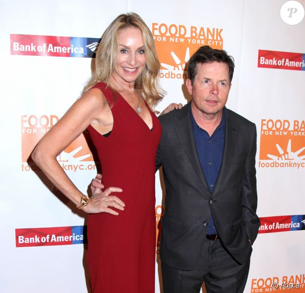 "Tracy Pollan et Michael J. Fox - Dîner ""Can Do Awards 2017"" de la fondation Food Bank for New York au Cipriani Wall Street. Le 19 avril 2017."