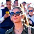 "Maria Francesca ""Xisca"" Perello assiste à la victoire de son compagnon Rafael sur A. Zverev durant le Monte Carlo Rolex Masters 2017 sur le court Rainier III du Monte Carlo Country Club à Roquebrune Cap Martin, France, le 20 avril 2017."