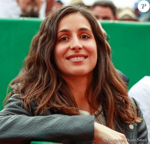"Maria Francisca Perello ""Xisca"" assiste à la victoire de son compagnon Rafael Nadal lors du Monte Carlo Rolex Masters 2017 le 19 avril 2017 à Roquebrune Cap Martin."