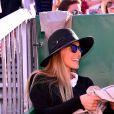 Jelena Djokovic enceinte assiste à la victoire de son mari N. Djokovic sur P. Carreno Busta durant le Monte Carlo Rolex Masters 2017 sur le court Rainier III du Monte Carlo Country Club à Roquebrune Cap Martin, France, le 20 avril 2017.