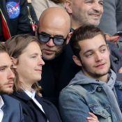 PSG-Montpellier : Pascal Obispo se régale avec Pierre et Louis Sarkozy