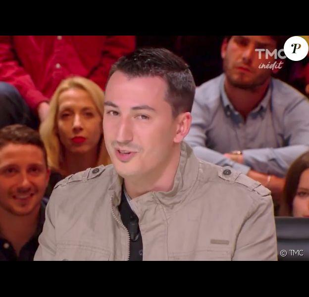 """Jérémie Izarn sur le plateau de """"Quotidien"""" sur TMC. Le 25 avril 2017."""