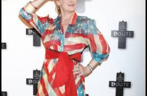 La formidable Meryl Streep, au top du... look patriotique à Paris ! Les people français ont adoré !