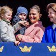 Le prince Daniel, La princesse Victoria, le prince Oscar, la reine Silvia, la princesse Estelle - Célébration du 71ème anniversaire du roi C. Gustav de Suède à Stockholm le 30 avril 2017 30/04/2017 - Stockholm