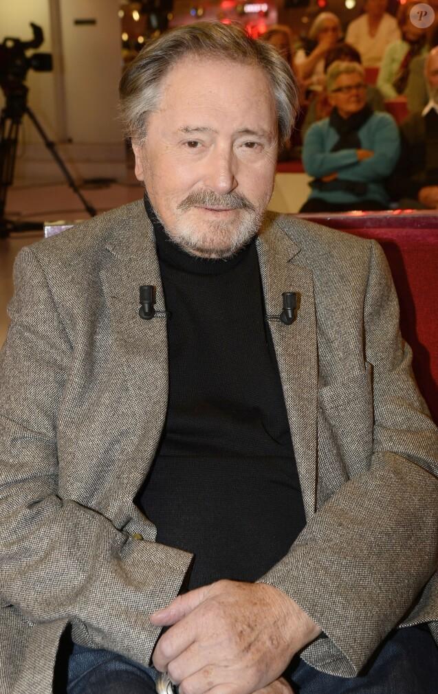 """Le comédien Victor Lanoux - Enregistrement de l'émission """"Vivement Dimanche"""" qui sera diffusée le 16 novembre 2014"""