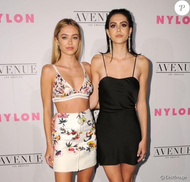 "Les sœurs Delilah et Amelia Hamlin- Soirée ""NYLON Young Hollywood"" au restaurant Avenue. Los Angeles, le 2 mai 2017 © Birdie Thompson/AdMedia via Zuma/Bestimage"