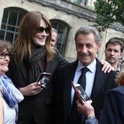 Présidentielle, Carla Bruni-Sarkozy: A voté en patriote, même Giulia a participé