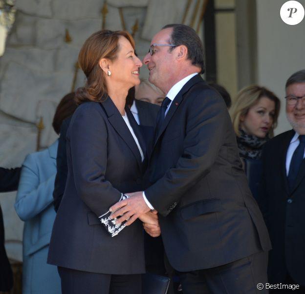 Ségolène Royal - Dernier conseil des ministres de la présidence de François Hollande au palais de l'Elysée à Paris. Le 10 mai 2017 © Veeren / Bestimage