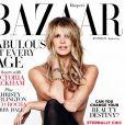 Elle Macpherson en couverture du magazine Harper's BAZAAR Australia. Août 2013.