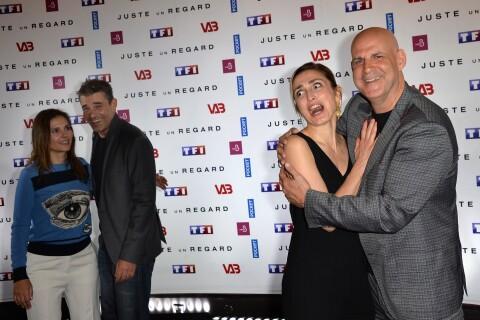Julie Gayet fait la grimace devant Virginie Ledoyen et Thierry Neuvic