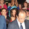 Francois Hollande, Julie Gayet, Aurelie Filippetti - Convention d'investiture de Francois Hollande a la tête du PS pour l'election presidentielle de 2012 à la Halle Freyssinet à Paris, le 22 octobre 2011.