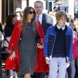 Exclusif - Melania Trump et son fils Barron à New York, le 17 novembre 2016.