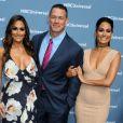 Nikki Bella, John Cena et Brie Bella en mai 2016 lors d'un événement NBC Universal.