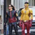 Exclusif - Keiynan Lonsdale sur le tournage de la série 'The Flash' à Vancouver, Canada, le 20 février 2017.