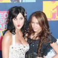 Katy Perry et Miley Cyrus aux MTV Video Music Awards le 7 septembre 2008