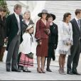 Caroline de Monaco et son mari Ernst August de Hanovre lors de fête nationale monégasque en novembre 2007. Ils sont entourés par leur fille Alexandra, Stéphanie, Charlotte et Pierre.