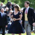 La princesse Eugenie et son compagnon Jack Brooksbank - Mariage de Pippa Middleton et James Matthews , en l'église St Mark's, en Angleterre, le 20 mai 2017