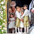 Catherine (Kate) Middleton, duchesse de Cambridge avec sa fille, la princesse Charlotte de Cambridge - Mariage de Pippa Middleton et James Matthews, en l'église St Mark's, à Englefield, Berkshire, Royaume Uni, le 20 mai 2017.