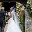 Pippa Middleton et son père Michael Middleton - Mariage de Pippa Middleton et James Matthews, en l'église St Mark's, à Englefield, Berkshire, Royaume Uni, le 20 mai 2017.