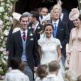 Pippa Middleton et son mari James Matthews - Mariage de Pippa Middleton et James Matthews, en l'église St Mark, à Englefield, Berkshire, Royaume Uni, le 20 mai 2017.