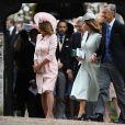 Carole Middleton, son mari Michael Middleton - Mariage de Pippa Middleton et James Matthews, en l'église St Mark, à Englefield, Berkshire, Royaume Uni, le 20 mai 2017.