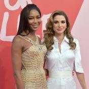 Rania de Jordanie, Cathy Guetta : Spectatrices stars du défilé de Naomi Campbell