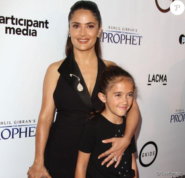 """Salma Hayek et sa fille Valentina Paloma Pinault - Avant-première de """"Le Prophète"""" à Los Angeles le 29 juillet 2015"""