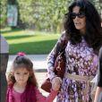 Salma Hayek avec sa fille Valentina Paloma Pinault à Santa Monica, le 4 mars 2013