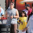 Exclusif - Prince et Blanket Jackson quittent leur cours de karate a Beverly Hills le 7 Octobre 2012.