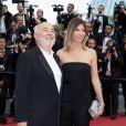 """Gérard Jugnot et sa compagne Patricia Campi - Montée des marches du film """"Twin Peaks"""" lors du 70ème Festival International du Film de Cannes. Le 25 mai 2017. © Borde-Jacovides-Moreau / Bestimage"""