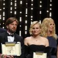Joaquin Phoenix (Prix d'Interprétation masculine pour le film « You Were Never Really Here »), Lynne Ramsay (Palme du scénario pour le film « You Were Never Really Here »), Ruben Ostlund (Palme d'Or pour le film « The Square »), Diane Kruger (Prix d'Interprétation féminine pour le film « In The Fade »), Sandrine Kiberlain - Cérémonie de clôture du 70ème Festival International du Film de Cannes. Le 28 mai 2017. © Borde-Jacovides-Moreau / Bestimage  Closing ceremony of the 70th Cannes International Film festival. On may 28th 201728/05/2017 - Cannes