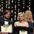 Joaquin Phoenix (Prix d'Interprétation masculine pour le film «You Were Never Really Here»), Lynne Ramsay (Palme du scénario pour le film «You Were Never Really Here»), Ruben Ostlund (Palme d'Or pour le film «The Square»), Diane Kruger (Prix d'Interprétation féminine pour le film «In The Fade»), Sandrine Kiberlain - Cérémonie de clôture du 70ème Festival International du Film de Cannes. Le 28 mai 2017. © Borde-Jacovides-Moreau / Bestimage  Closing ceremony of the 70th Cannes International Film festival. On may 28th 201728/05/2017 - Cannes