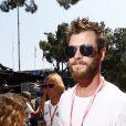 Chris Hemsworth - 75e Grand Prix F1 de Monaco, le 28 mai 2017.