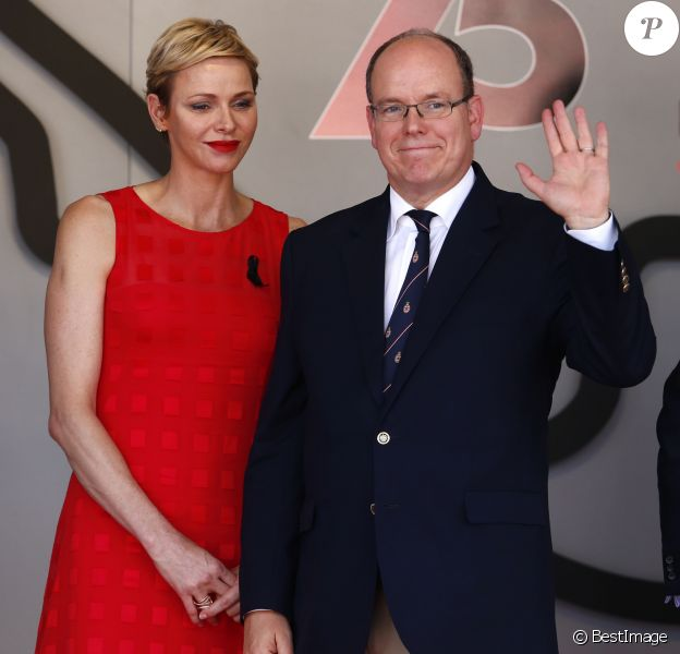 Le prince Albert II de Monaco et la princesse Charlène - 75e Grand Prix F1 de Monaco, le 28 mai 2017.