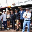 Jean-Claude Biver, Christian Horner, Max Verstappen, Chris Hemsworth et Philippe Etchebest - 75e Grand Prix F1 de Monaco, le 28 mai 2017. © Michael Alesi / Bestimage