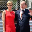 Le prince Albert II de Monaco et la princesse Charlène - 75e Grand Prix F1 de Monaco, le 28 mai 2017. © Michael Alesi / Bestimage