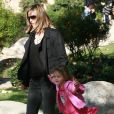 Heidi Klum et ses enfants au parc. 25/01/09