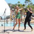 Exclusif - Tallia Storm en mini concert au bord de la piscine de l'hôtel Hard Rock à Ibiza, le 29 mai 2017.