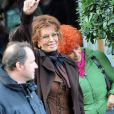 Sophia Loren sur le tournage de Nine de Rob Marshall
